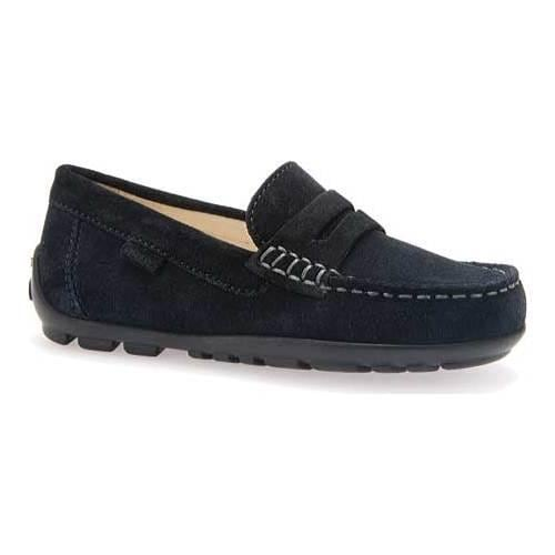 aa938b9e1fd Shop Boys  Geox Jr Fast Penny Loafer J42G5B Navy Suede - Free Shipping  Today - Overstock - 11789195