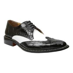 Men's Giorgio Brutini 21085 Black Buff Croc/White Smooth Calf