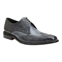 Men's Giorgio Brutini 21085 Blue Buff Croc/Gray Smooth Calf