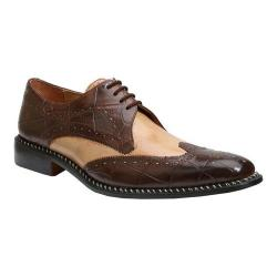 Men's Giorgio Brutini 21085 Brown Buff Croc/Tan Smooth Calf