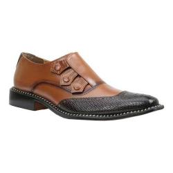 Men's Giorgio Brutini 3 Button Slip On 21101 Brown Zig Zag/Tan Buffalo