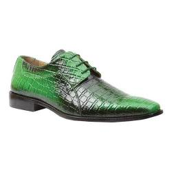 Men's Giorgio Brutini 3 Eyelet Fade Oxford 21100 Light Green/Dark Green Fade Croco Print