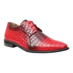 Men's Giorgio Brutini 3 Eyelet Fade Oxford 21100 Red/Black Fade Croco Print