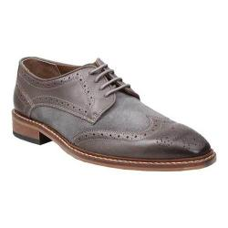 Men's Giorgio Brutini 4 Eyelet Wing Tip Oxford 25046 Gray Leather/Suede