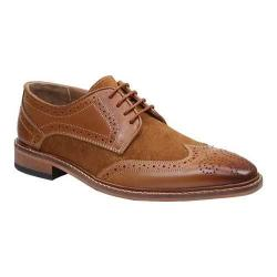 Men's Giorgio Brutini 4 Eyelet Wing Tip Oxford 25046 Tan Leather/Suede