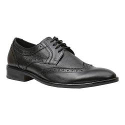 Men's Giorgio Brutini 4 Eyelet Wing Tip Oxford 25054 Black Shimone/Tumbled Leather
