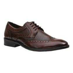 Men's Giorgio Brutini 4 Eyelet Wing Tip Oxford 25054 Brown Rampton Leather