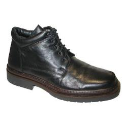 Men's Giorgio Brutini Plain Toe 5 Eyelet Demi Boot 24568 Black Sheepskin