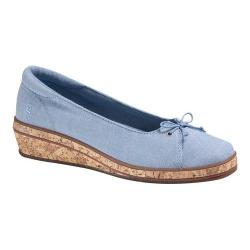 Women's Grasshoppers Brooke Wedge Light Blue Chambray