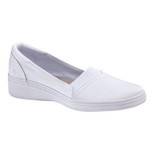 ab07966b6 Shop Women s Grasshoppers Jade Slip-On White Stretch Twill - Free ...