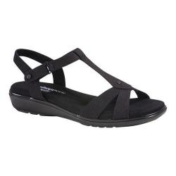 Women's Grasshoppers Rose Sandal Black Canvas