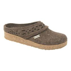 Women's Haflinger Lacey Grizzly Clog Chocolate