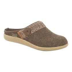 Women's Haflinger Leslie Crepe Sole Clog Chocolate