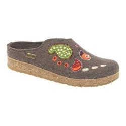 Women's Haflinger Paisley Grizzly Clog Smokey Brown
