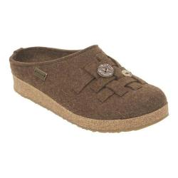 Women's Haflinger Woven Grizzly Clog Chocolate