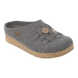 Women's Haflinger Woven Grizzly Clog Grey