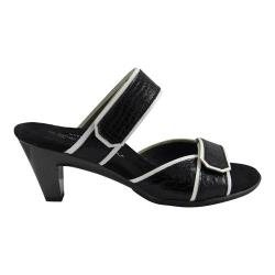 Women's Helle Comfort Eos Sandal Black/White Leather