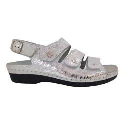 Women's Helle Comfort Taki Sandal Silver Leather