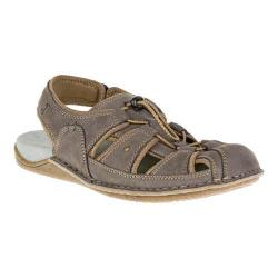Men's Hush Puppies Bergen Grady Fisherman Sandal Dark Grey Nubuck