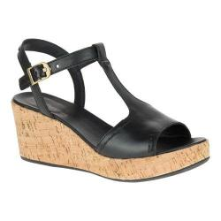 Women's Hush Puppies Blakely Durante Wedge Sandal Black Leather