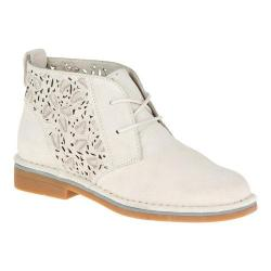 Women's Hush Puppies Cyra Catelyn II Chukka Boot Off White Perforated Suede