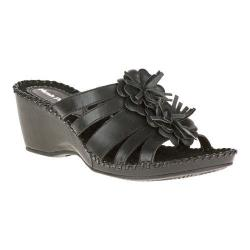 Women's Hush Puppies Gallia Copacabana Wedge Sandal Black Leather