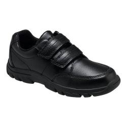 Boys' Hush Puppies Jace Hook-and-Loop Shoe Black Leather