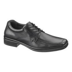Men's Hush Puppies Quatro Oxford BK Black Leather