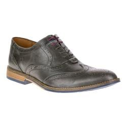Men's Hush Puppies Style Brogue Grey Smooth Leather