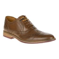 Men's Hush Puppies Style Brogue Tan Smooth Leather