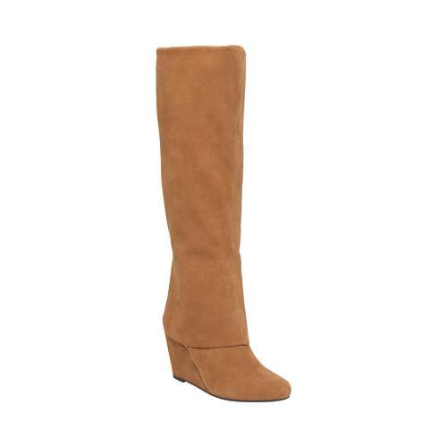 bc149680363 Shop Women s Jessica Simpson Rallie Tall Wedge Boot Dakota Tan Split Suede  - Free Shipping Today - Overstock - 11790933