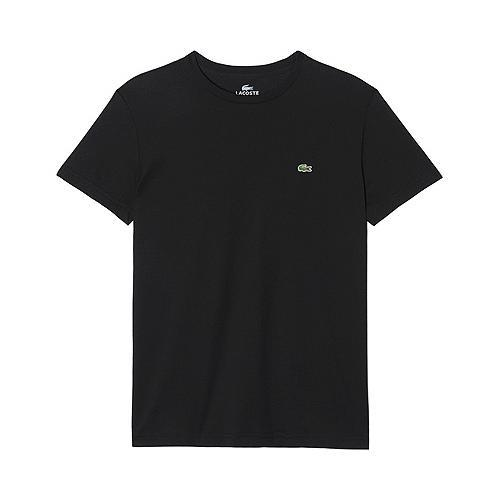 61dd48be4 Shop Men s Lacoste Short Sleeve Pima Jersey Crewneck T-Shirt Black - Free  Shipping On Orders Over  45 - Overstock.com - 11791224