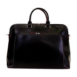 Women's Lodis Audrey Brera Briefcase Black/Red