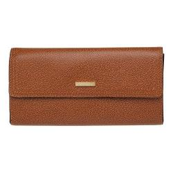 Women's Lodis Stephanie RFID Checkbook Clutch Wallet Chestnut