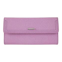 Women's Lodis Stephanie RFID Checkbook Clutch Wallet Lavender