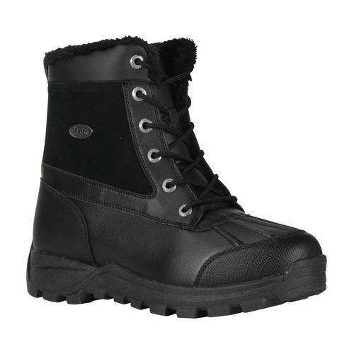 Men's Lugz Tambora Mid Water Resistant Boot Black Leather