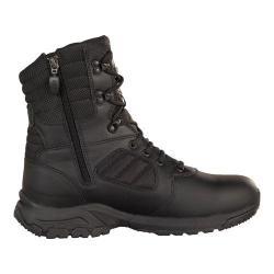 Men's Magnum Response III 8.0 Side Zip Black Leather