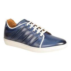 Men's Mezlan Balboa Sneaker Blue Hand Burnished Calfskin