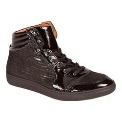 Men's Mezlan Bordeau High Top Black Embossed/Shiny Calf