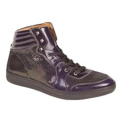 Men's Mezlan Bordeau High Top Grape Embossed/Shiny Calf