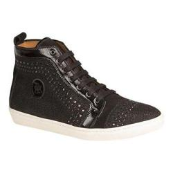 Men's Mezlan Cabrillo High Top Black Glass Suede/Patent Leather