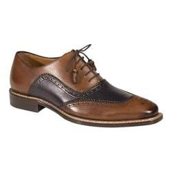 Men's Mezlan Cadiz Oxford Cognac/Blue Calf