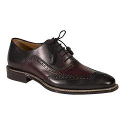 Men's Mezlan Cadiz Oxford Graphite/Burgundy Calf