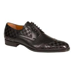 Men's Mezlan Camus Derby Black Laser Embossed/Smooth Italian Calfskin