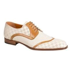 Men's Mezlan Camus Derby Bone/Camel Laser Embossed/Smooth Italian Calfskin