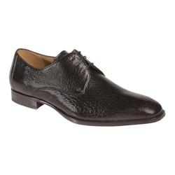 Men's Mezlan Escorial Plain Toe Oxford Black Boarskin