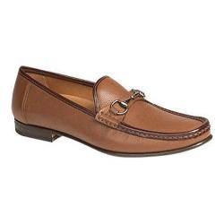 Men's Mezlan Ferrant Loafer Cognac/Brown Tumbled/Smooth Calfskin