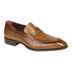 Men's Mezlan Julio Loafer Cognac Embossed Calfskin