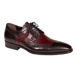 Men's Mezlan Lincoln Wingtip Oxford Black/Burgundy Calf