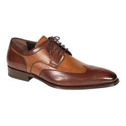 Men's Mezlan Lincoln Wingtip Oxford Brown/Tan Calf